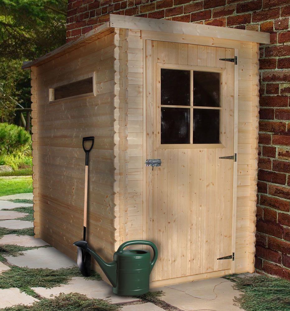 Gartenschrank / Geräteschrank - 2,35 x 1,30 Meter aus 19mm Blockbohlen