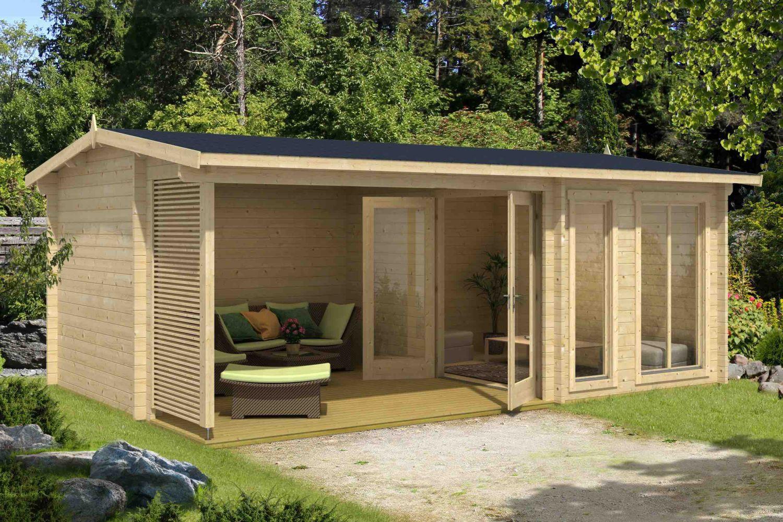 Gartenhaus G20 inkl. Fußboden und Terrasse   20 mm ...