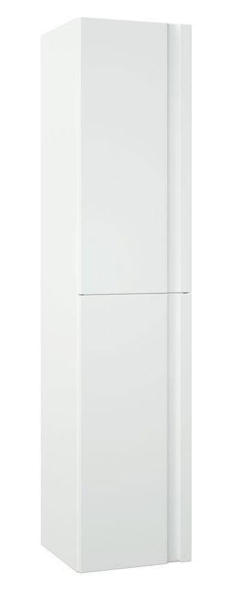 Bad - Hochschrank Bikaner 10, Farbe: Weiß glänzend – 160 x 35 x 36 cm (H x B x T)