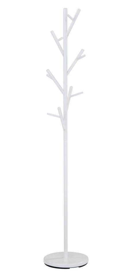 Kleiderständer Madina 24, Farbe: Weiß - Abmessungen: 170 x 30 x 30 cm (H x B x T)