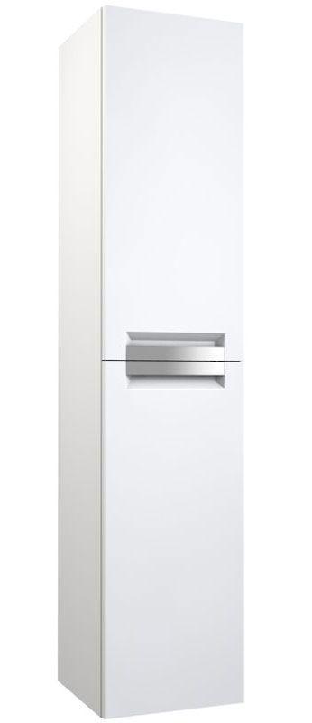 Badezimmer - Hochschrank Meerut 82, Farbe: Weiß matt – 160 x 35 x 36 cm (H x B x T)