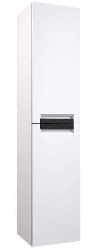 Badezimmer - Hochschrank Meerut 84, Farbe: Weiß matt – 160 x 35 x 36 cm (H x B x T)