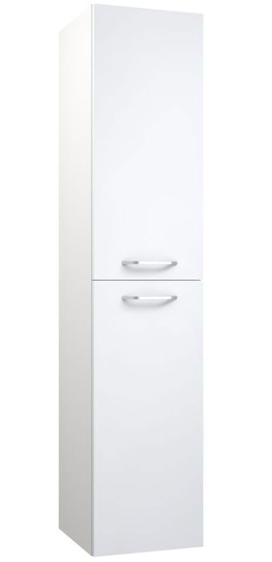 Badezimmer - Hochschrank Barasat 84, Farbe: Weiß glänzend – 160 x 35 x 35 cm (H x B x T)