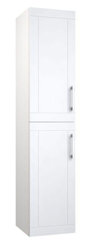 Bad - Hochschrank Bengaluru 37, Farbe: Weiß matt – 160 x 35 x 35 cm (H x B x T)