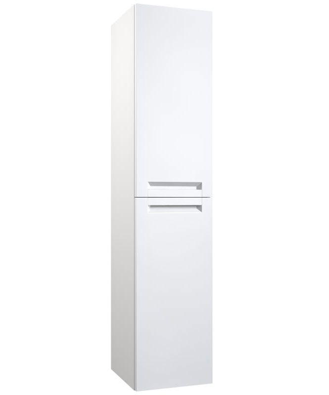 Badezimmer - Hochschrank Purina 22, Farbe: Weiß matt – 138 x 35 x 25 cm (H x B x T)