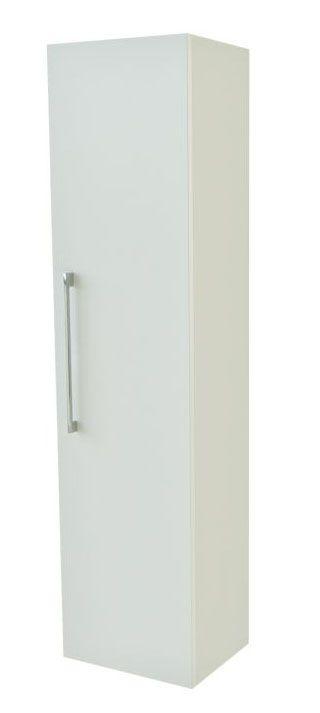 Badezimmer - Hochschrank Nadiad 31, Farbe: Weiß glänzend – 138 x 35 x 25 cm (H x B x T)