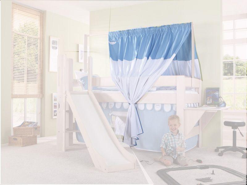 Zeltstoffset für Spielbett LEO - Farbe: blau-boy