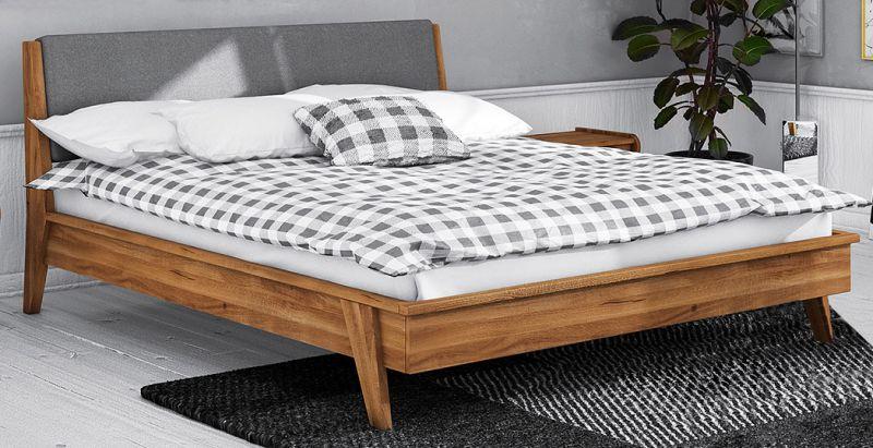 Doppelbett Otago 01 Wildeiche massiv geölt - Liegefläche: 160 x 200 cm (B x L)