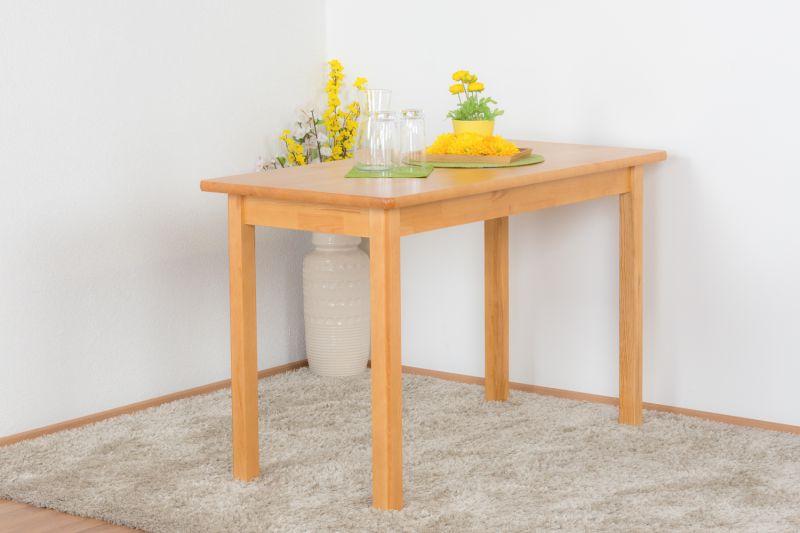 Tisch Kiefer massiv Vollholz Erlefarben Junco 227D (eckig) - 120 x 60 cm (B x T)