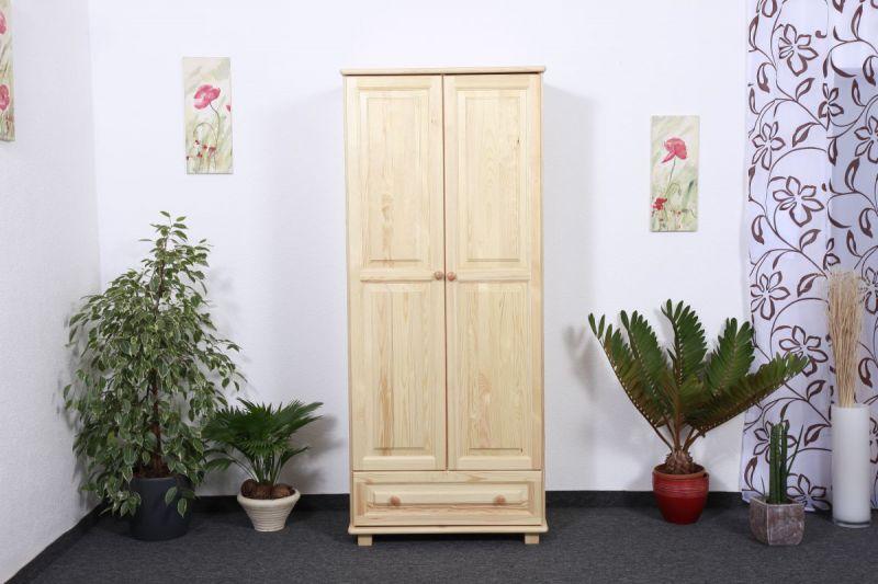 Kleiderschrank Holz natur 006 - Abmessung 190 x 80 x 60 cm (H x B x T)