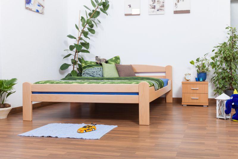 "Doppelbett ""Easy Premium Line"" K4, 160 x 200 cm Buche Vollholz massiv Natur"