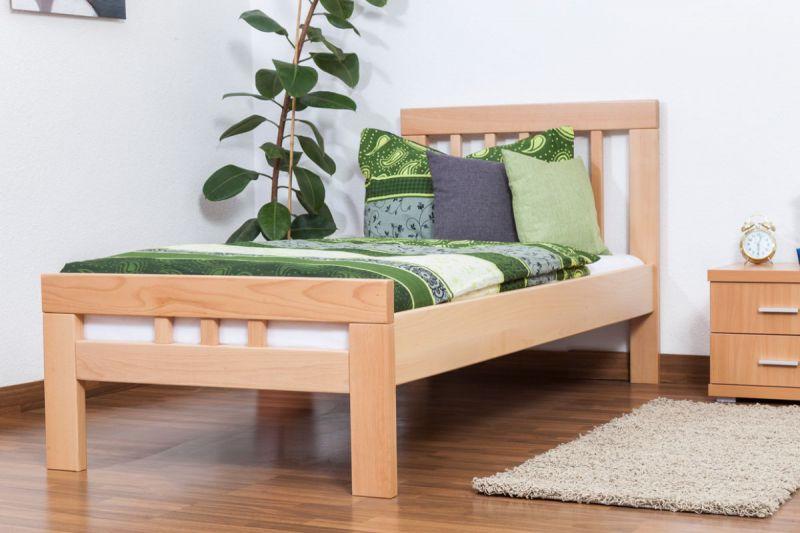 """Einzelbett """"Easy Premium Line"""" K8, Buche Vollholz massiv natur - Maße: 90 x 190 cm"""