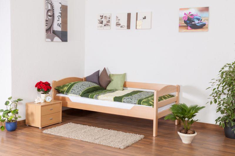 """Einzelbett """"Easy Premium Line"""" K1/n/s, Buche Vollholz massiv Natur - Maße: 90 x 190 cm"""