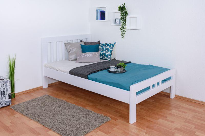 """Einzelbett / Gästebett """"Easy Premium Line"""" K8, 120 x 200 cm Buche Vollholz massiv weiß lackiert"""