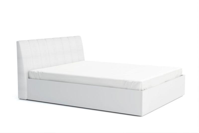Doppelbett Farsala 05, Farbe: Weiß - Liegefläche: 160 x 200 cm (B x L)