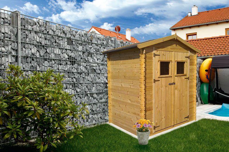 Gartenhütte Holz 19 mm Wien - L: 200 cm x B: 200 cm - inkl. Dachpappe