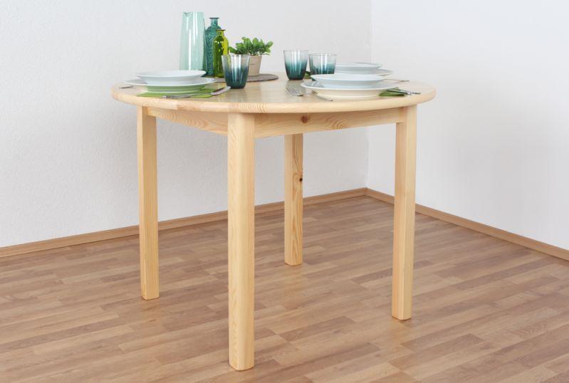 Tisch Kiefer massiv Vollholz natur 003 (rund) - Ø 100 cm