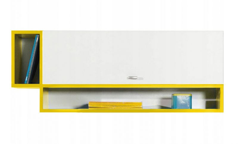 """Jugendzimmer - Hängeschrank """"Geel"""" 34, Weiß / Gelb - Abmessungen: 40 x 100 x 26,5 cm (H x B x T)"""