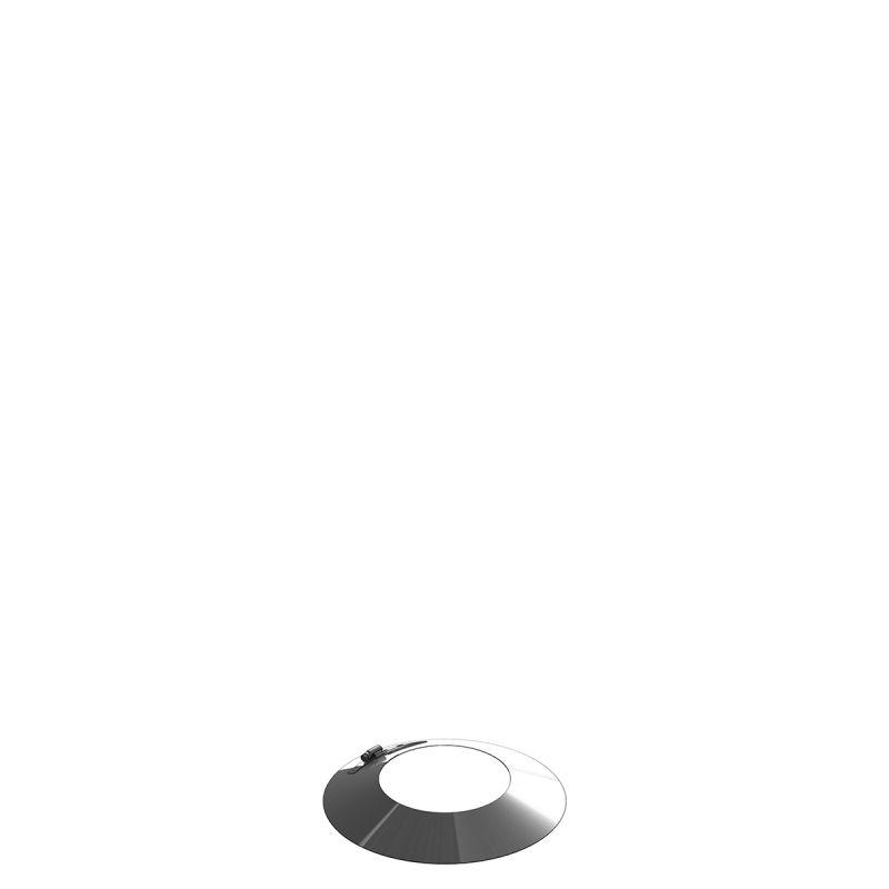 Einwandiger feuchtigkeits- unempfindlicher Wetterkragen/Wandrosette  - Durchmesser: 150 mm