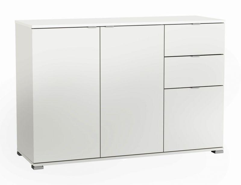 Kommode Penja 28, Farbe: Weiß - Abmessungen: 82 x 120 x 42 cm (H x B x T)