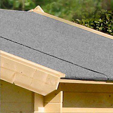 Dachpappe Schwarz - Länge: 15m
