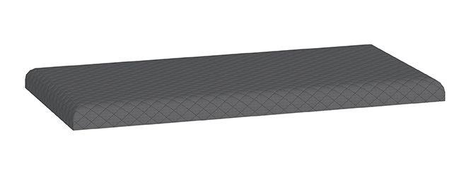 Polsterung für Schuhschrank Knoxville 21 und Schuhregal Knoxville 22, Farbe: Grau - Abmessungen: 5 x 80 x 40 cm (H x B x T)
