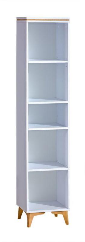 Regal Amanto 11, Farbe: Weiß / Esche - Abmessungen: 173 x 38 x 34 cm (H x B x T)