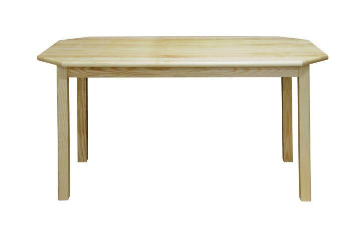 Tisch Kiefer massiv Vollholz natur Junco 230B (rund) - Abmessung 75 x 150 cm