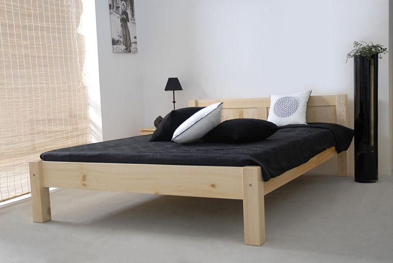 Doppelbett Kiefer Vollholz massiv natur A1, inkl. Lattenrost  - Abmessung 160 x 200 cm