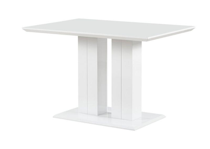 Esstisch Daures 117 (eckig), Farbe: Weiß Hochglanz - Abmessungen: 120 x 80 cm (B x T)