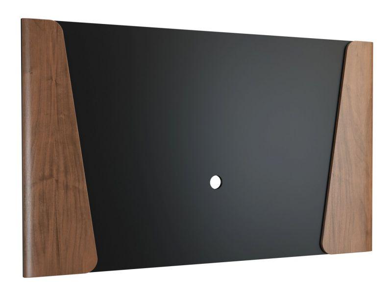 Rückwandpaneel Pazin 13, Farbe: Nuss / Schwarz - 100 x 166 x 4 cm (H x B x T)