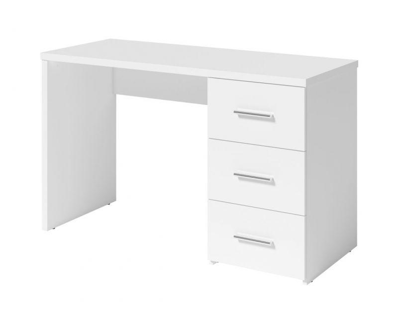 Schreibtisch Moschato, Farbe: Weiß - Abmessungen: 75 x 120 x 53 cm (H x B x T)