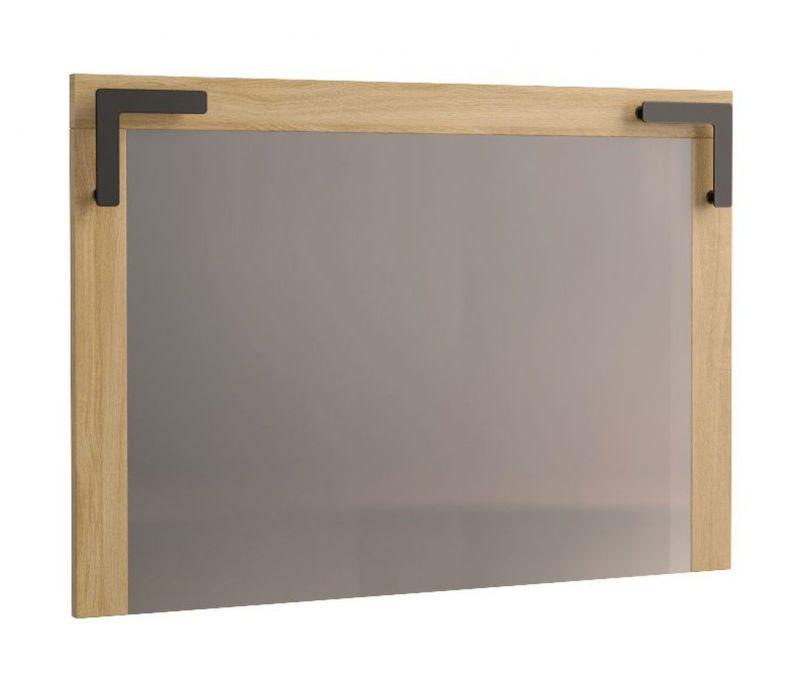 Spiegel Kastav 42, Farbe: Eiche / Schwarz - 70 x 100 x 4 cm (H x B x T)
