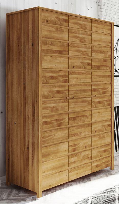 Drehtürenschrank / Kleiderschrank Tasman 09 Wildeiche massiv geölt - Abmessungen: 212 x 145 x 60 cm (H x B x T)