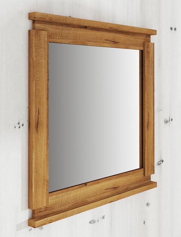 Spiegel Tasman 26 Wildeiche massiv geölt - Abmessungen: 80 x 115 x 2 cm (H x B x T)