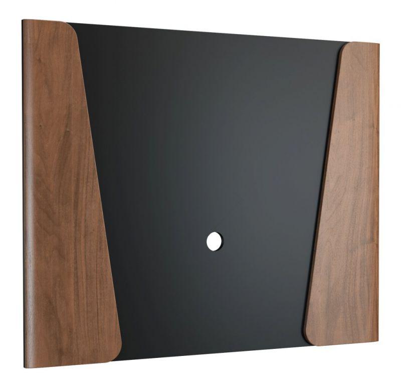 Rückwandpaneel Pazin 14, Farbe: Nuss / Schwarz - 100 x 122 x 4 cm (H x B x T)