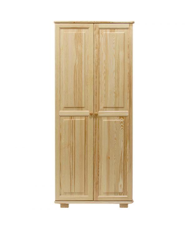 Kleiderschrank Kiefer Vollholz massiv natur 008 - Abmessung 190 x 90 x 60 cm (H x B x T)