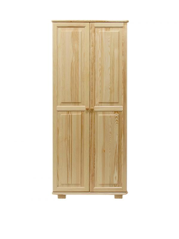Kleiderschrank Massivholz natur 008 - Abmessung 190 x 90 x 60 cm (H x B x T)