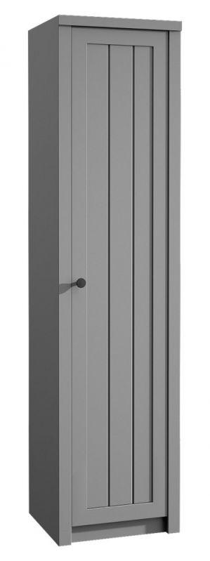 Schrank Segnas 07, Farbe: Grau - 198 x 50 x 43 cm (H x B x T)