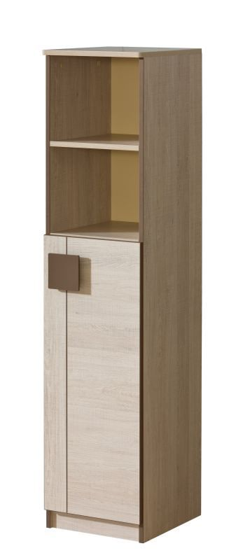 Jugendzimmer - Schrank Elias 10, Farbe: Hellbraun / Braun - Abmessungen: 150 x 35 x 40 cm (H x B x T)