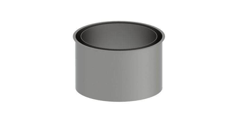 Doppelwandfutter - Durchmesser: 120 mm, Farbe: unlackiert