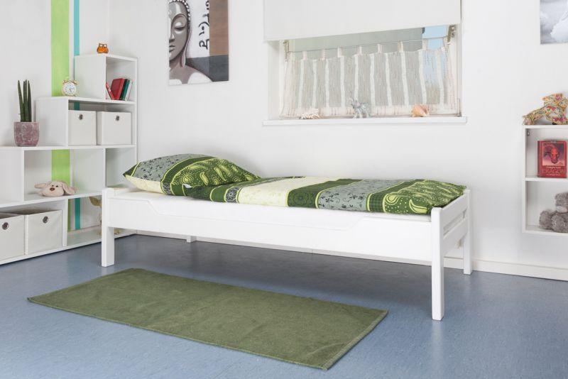 """Einzelbett """"Easy Premium Line"""" K1/1n, Buche Vollholz massiv weiß lackiert"""