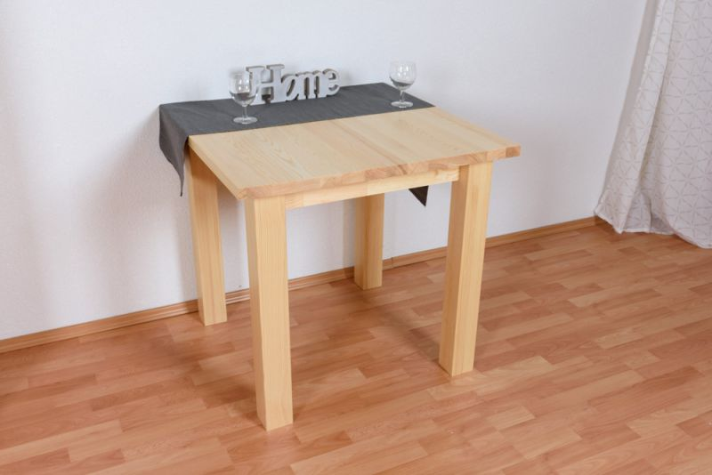 Tisch Kiefer massiv Vollholz natur Junco 239A - 80 x 80 cm (B x T)