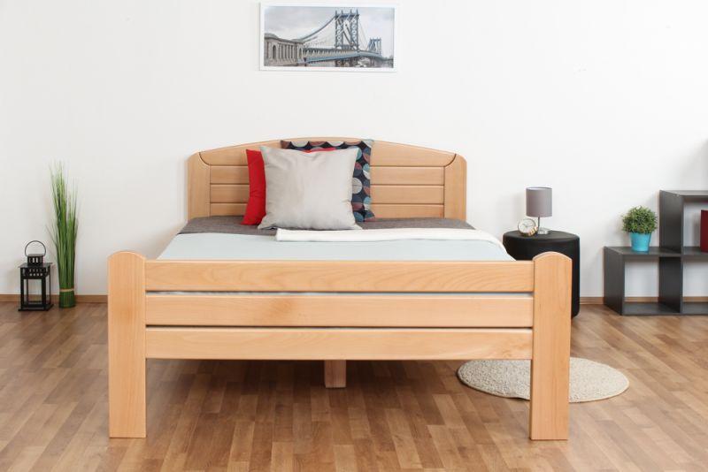 """Einzelbett / Gästebett """"Easy Premium Line"""" K7, 140 x 200 cm Buche Vollholz massiv Natur"""