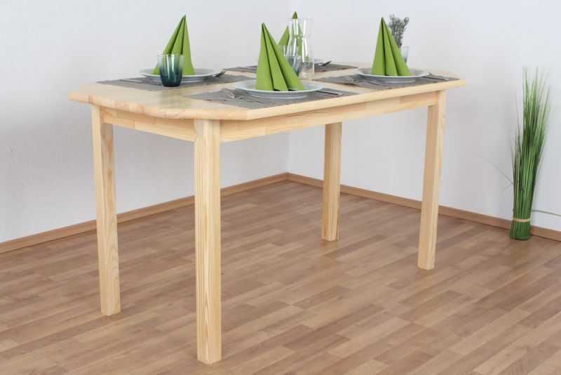 Tisch Kiefer massiv Vollholz natur Junco 230A - 75 x 140 cm (B x L)