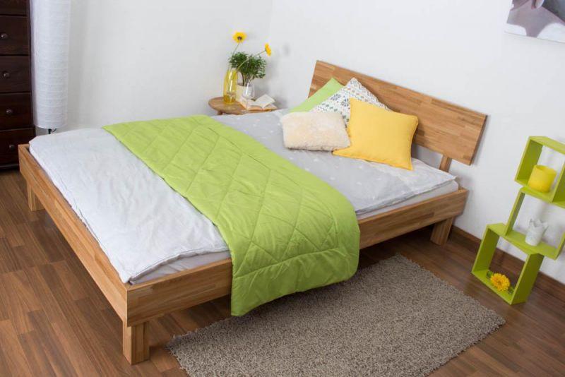 Bett 120 x 200 cm Eiche massiv geölt
