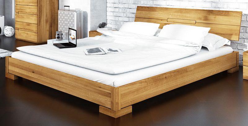 Doppelbett Kapiti 08 Wildeiche massiv geölt - Liegefläche: 160 x 200 cm (B x L)