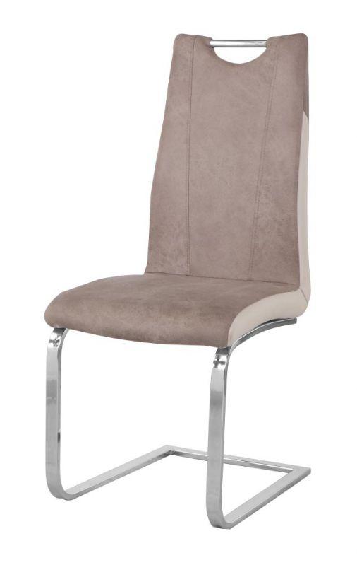 Stuhl Maridi 221, Farbe: Beige / Weiß - Abmessungen: 101 x 44 x 59 cm (H x B x T)
