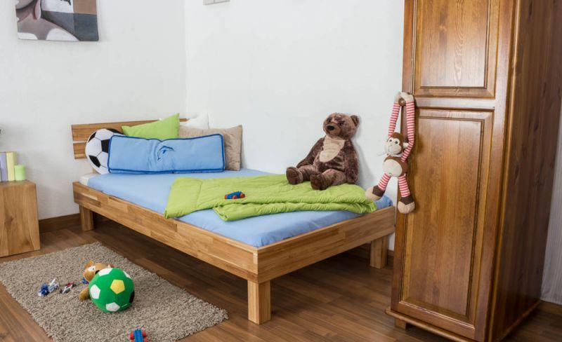 Jugendbett Wooden Nature 03 Eiche geölt, massiv  - Liegefläche 90 x 200 cm (B x L)