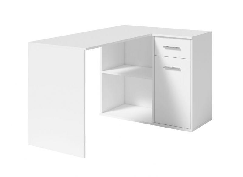 Schreibtisch Saloniki, Farbe: Weiß - Abmessungen: 78 x 130 x 93 cm (H x B x T)